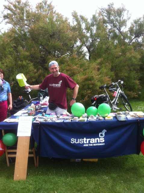 Pedal the Prom, Sustrans stall